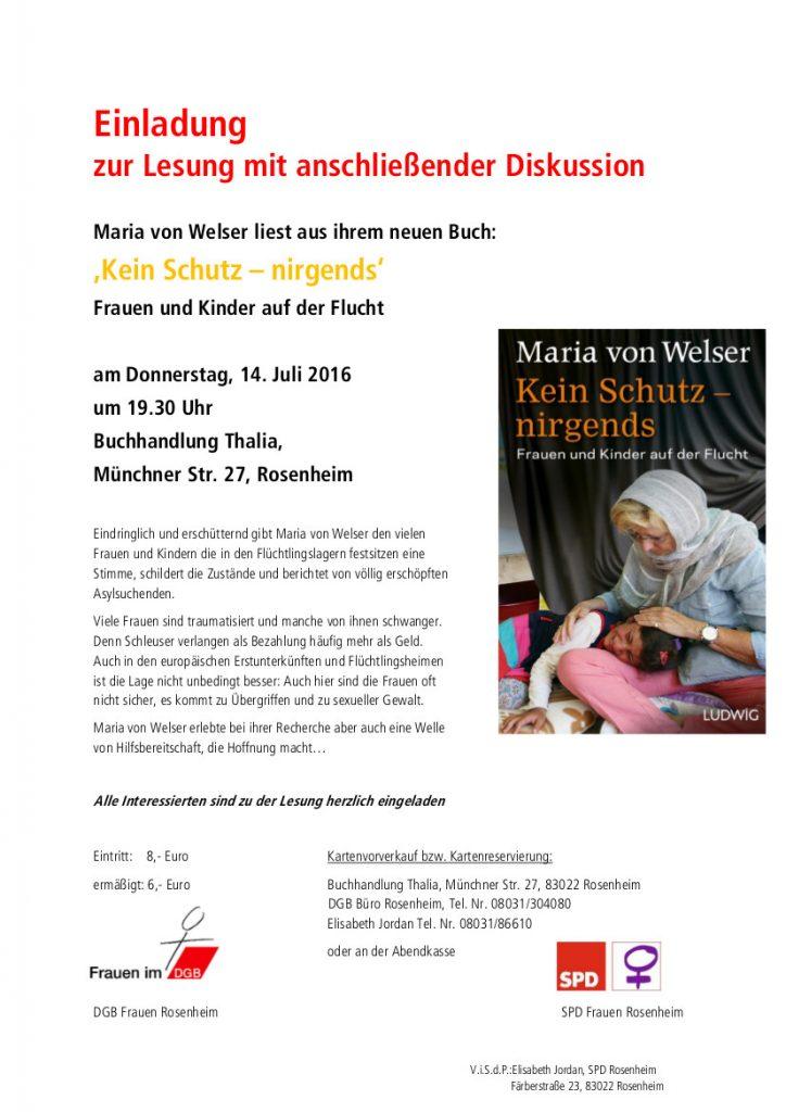 SPD Maria von Welser liest aus ihrem neuen Buch