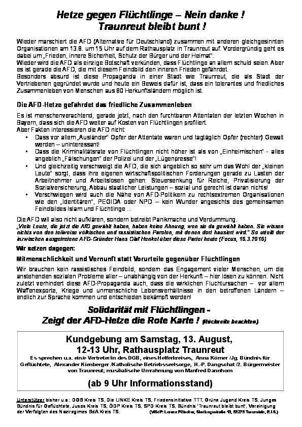 Traunreut flyer